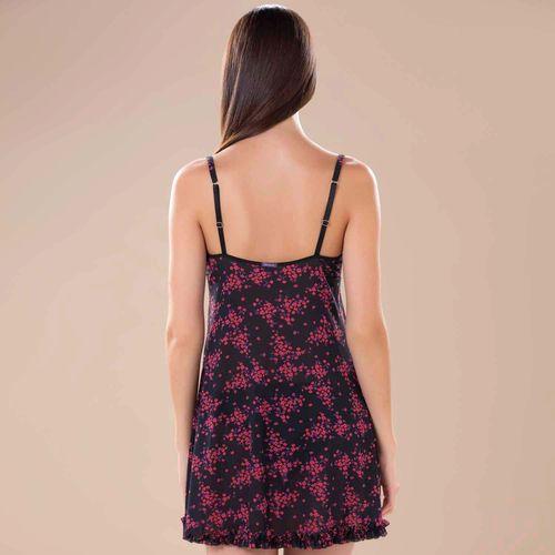 Camisola Decote em V em Tule Floral com Renda Marcyn  436.752