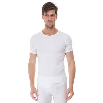 Camiseta-manga-curta-rib-gola-careca-branca-frente