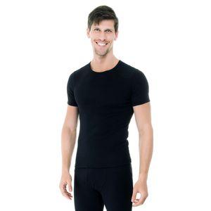 Camiseta-manga-curta-rib-gola-careca-preto-frente