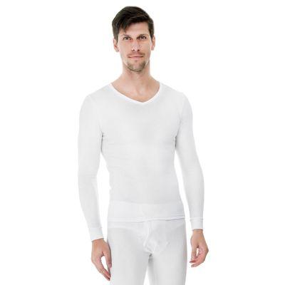 Camiseta-Manga-Longa-Rib-Gola-frente-branca