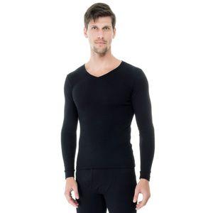 Camiseta-Manga-Longa-Rib-Gola-preto-frente