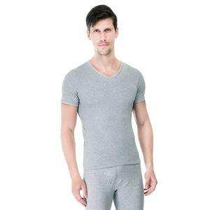 Camiseta-Manga-Curta-Rib-Gola-V-mescla-frente