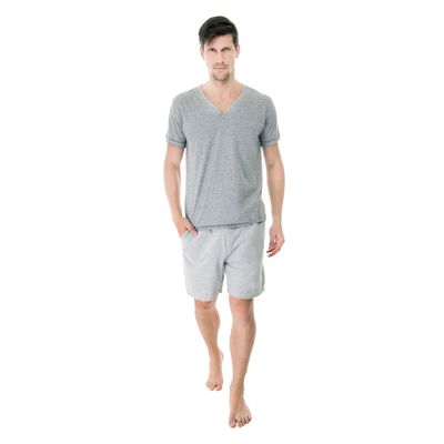 Pijama-Curto-Malha-gola-V-483.382-Mescla-Cinza-Frente-UW
