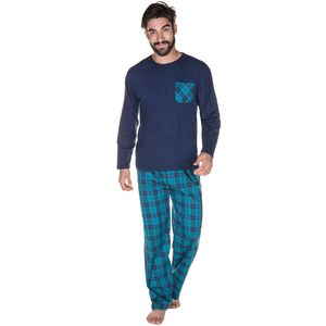 529386-pijama-longo-bolso-contrastante-calca-xadrez-frente