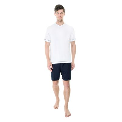 Pijama-Curto-Modal-Gola-V-Bicolor-
