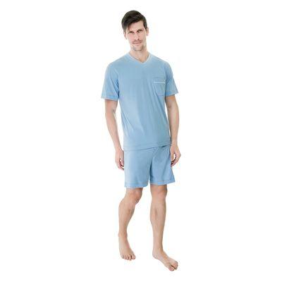 Pijama-Curto-Malha-Gola-V-Bolso-