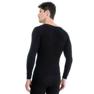 Camiseta-Manga-Longa-rib-1x1-Gola-Careca-preta-costas