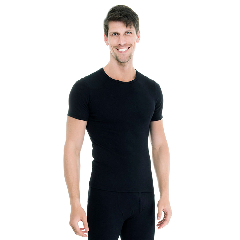 Camiseta Algodão Manga Curta Preta - Compre Já - UW - Casa das Cuecas 761a881af75c5