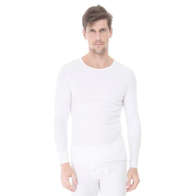 Camiseta-Manga-Longa-Rib-Gola-Careca-frente-branca