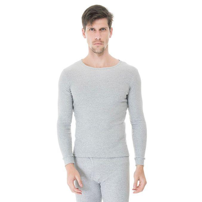 Camiseta-Manga-Longa-Rib-Gola-Careca-mescla-frente