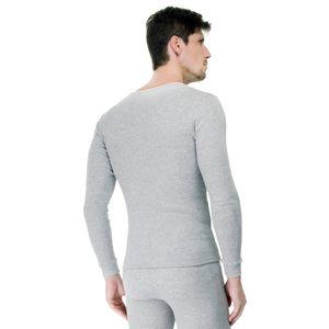 Camiseta-Manga-Longa-Rib-Gola-Careca-mescla-costas