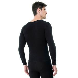Camiseta-Manga-Longa-Rib-Gola-Careca-costas-preta