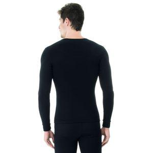 Camiseta-Manga-Longa-Rib-Gola-preta-costas