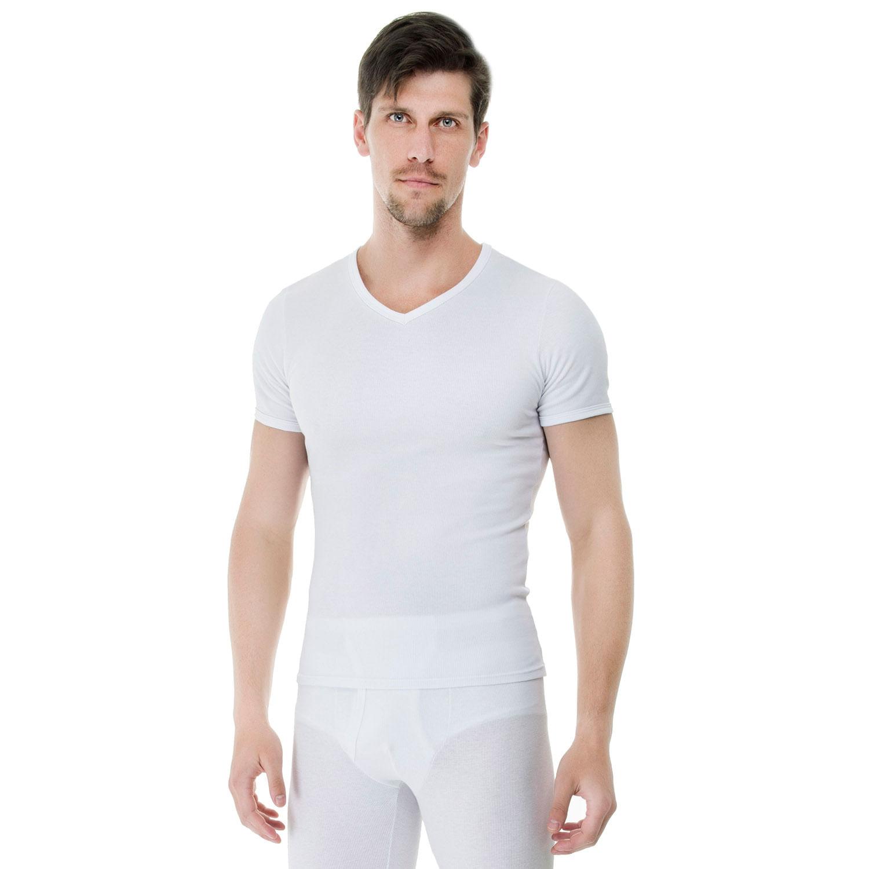 af514fedd Camiseta Gola V Algodão Branca - Compre Já - UW - Casa das Cuecas