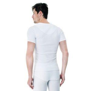 Camiseta-Manga-Curta-Rib-Gola-V-branca-costas