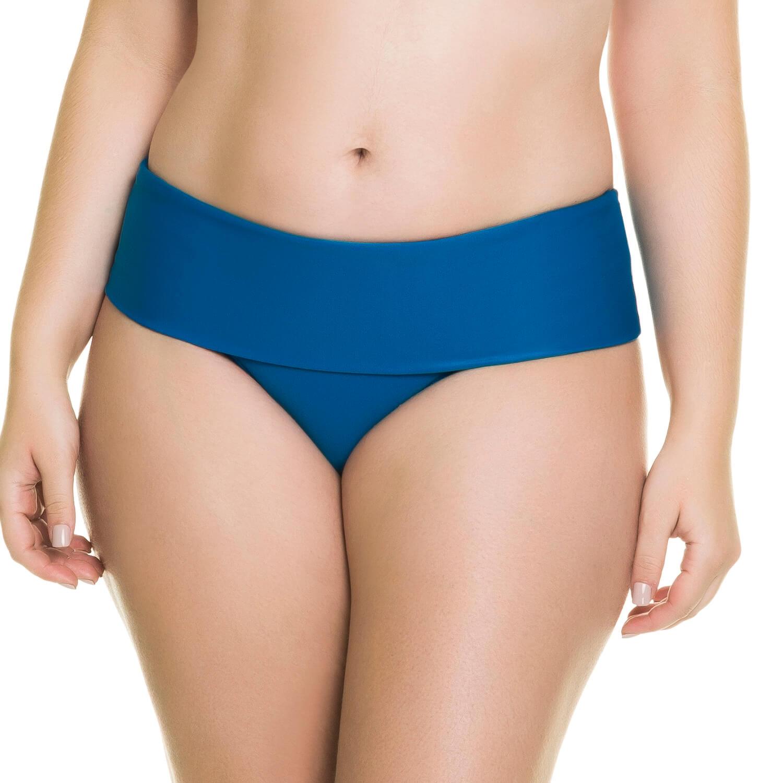 ed64487be Calcinha Praia Plus Azul com Faixa Dupla