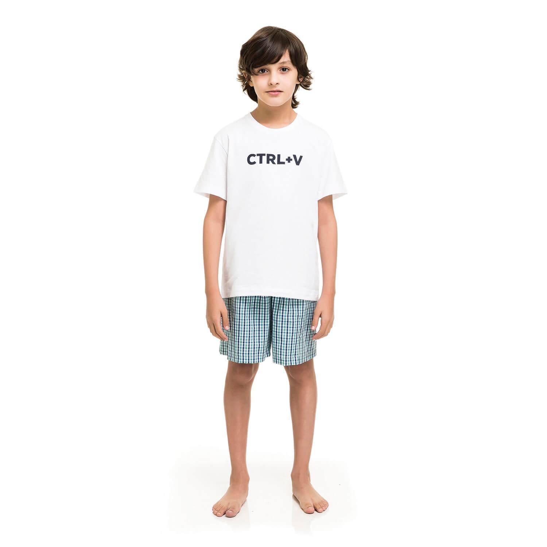 Pijama Infantil Curto de Algodão CTRL+V Online - Compre Já  e0db834aca946