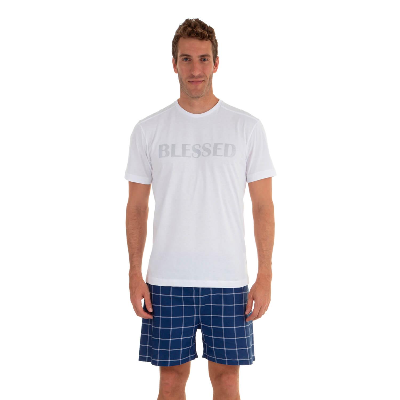 Camiseta Malha  Blessed  - Casa das Cuecas  b9e8545c3a585