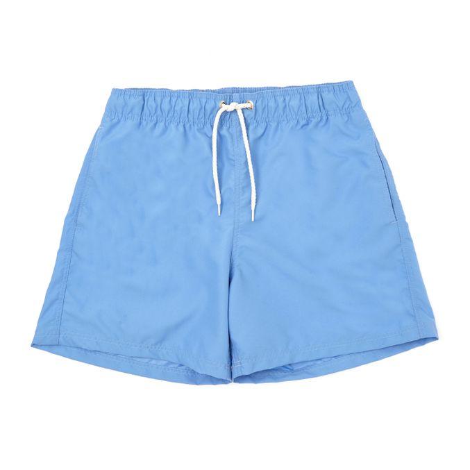 Short-Praia-Liso-Adulto---azul-ceu